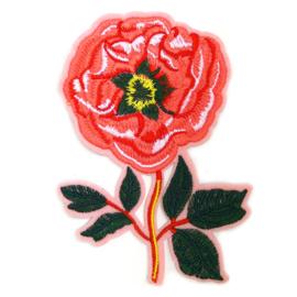 Patch - Strijkplaatje Bloem Roos roze
