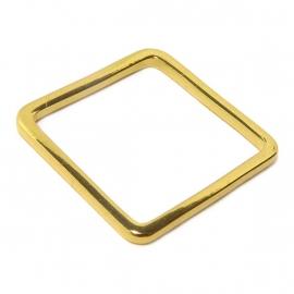 Open vierkant verguld goud bedel