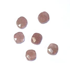Ruby Quartz Half edelsteen kraal Oud Roze