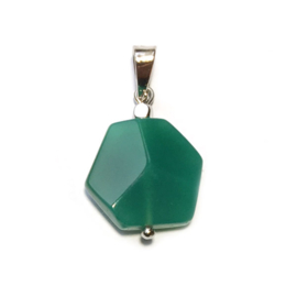 Hanger Groene agaat zilver
