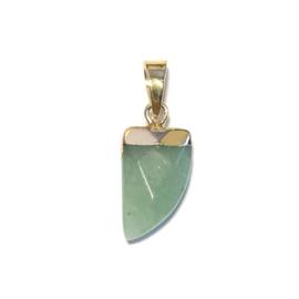 Bedel Hanger Tand Jade groen