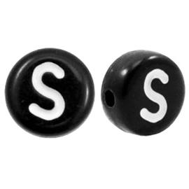 Letterkraal Rond zwart S