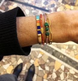 Armband Oranje Bamboekoraal