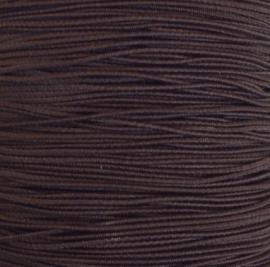 Elastiek Donkerbruin 0,8 mm