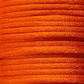 Satijnkoord 2,5mm Oranje cartierknoop