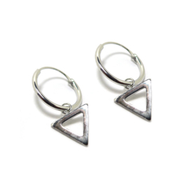 Oorringetjes Triangle Open Zilver 12mm
