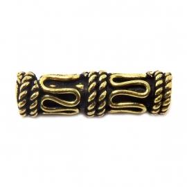 Tonnetje tube bewerkt goud