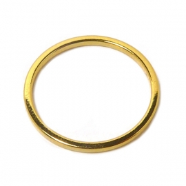 Open ring 16mm verguld bedel
