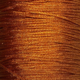 Satijnkoord Amber oranje 0,7mm