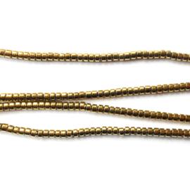 Hematiet kraal discus Half Edelsteen Goud