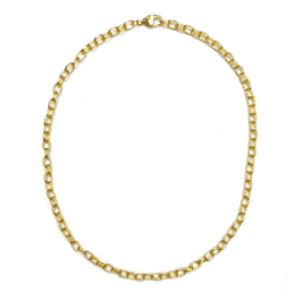 Schakel ketting goud verguld 42 cm.