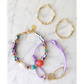 Armband cartierknoop Lila chain goud