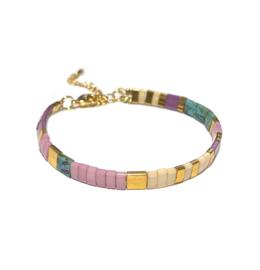 Tila Armband multicolor Lila Beige goud