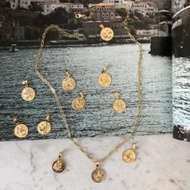 Ketting met Sterrenbeeld rond goud