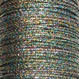 Zilver pastel metallic waxkoord 1mm
