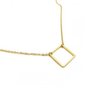 Ketting verguld Square vierkant