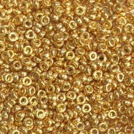 Miyuki Spacer duracoat galvanised goud klein