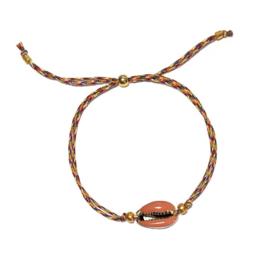 Armband Kauri Zalmroze Koord