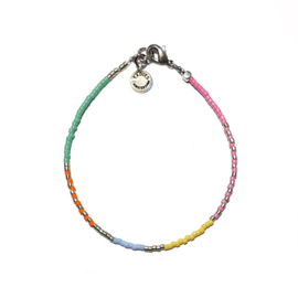 Armband Miyuki multicolor zilver