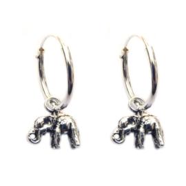 Oorbellen olifantje zilver