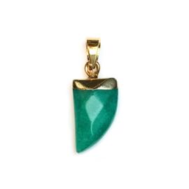 Tand hanger half edelsteen Jade Emerald
