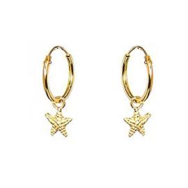 Oorbellen starfish goud
