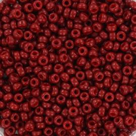 Miyuki Rocailles 11/0 Duracoat opaque jujube rood