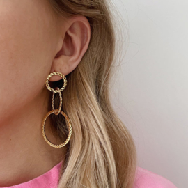Statement oorbellen Ringen goud