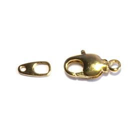 Karabijn slotje 15mm goud