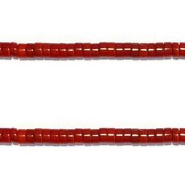 Schijfje Bamboe koraal rood