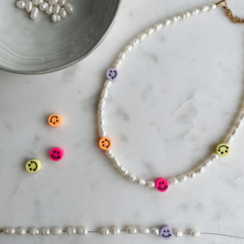 DIY Kralen pakketje Smiley Ketting Parels