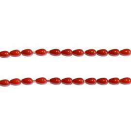 Druppel kraal bamboe koraal rood