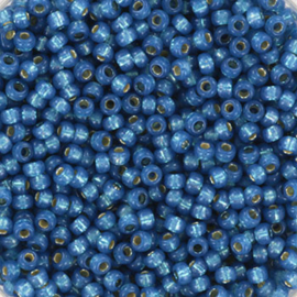 Miyuki Rocailles 11/0 Silverlined denim blauw