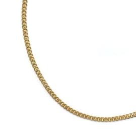 Schakel ketting plat goud verguld