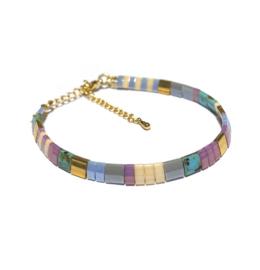 Tila Armband multicolor Lila Blauw goud