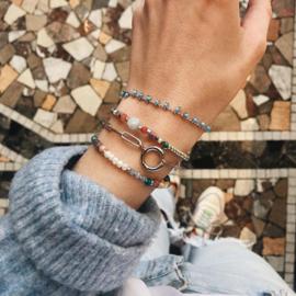 Chunky Schakel armband zilver