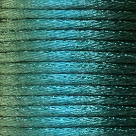 Satijnkoord 2,5mm Zeegroen cartierknoop