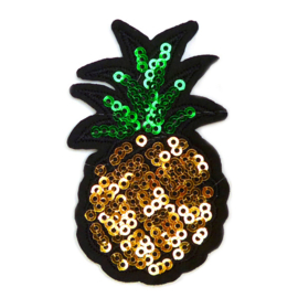 Patch - Strijkplaatje Ananas pailletten