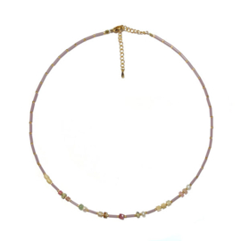 Ketting Lila Pastel staafjes