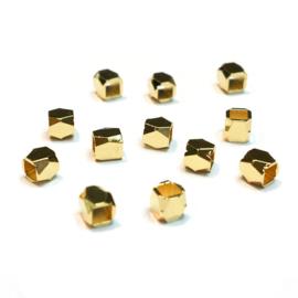 Kraal verguld vierkant goud facet
