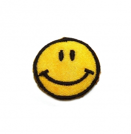 Patch - Strijkplaatje Smiley small