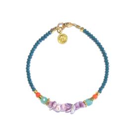 Armband lila schelpjes