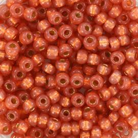 Miyuki Rocailles 8/0 Duracoat lined rosegold