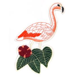 Patch - Strijkplaatje Flamingo Wit
