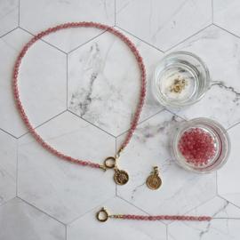 DIY Startpakket Sieraden maken Ketting munt goud Roze