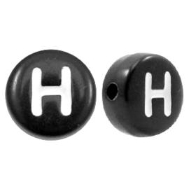 Letterkraal Rond zwart H