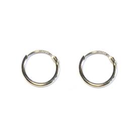 Kleine oorringetjes 925 sterling zilver 9mm