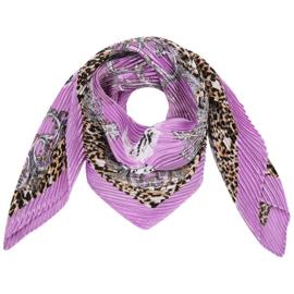 Sjaal Lila luipaard print geplooid