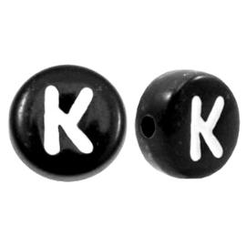 Letterkraal Rond zwart K