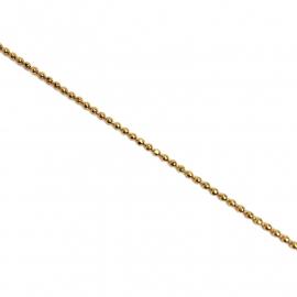 Ballchain Goud Verguld Facet geslepen 1,5mm